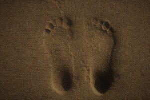 sandy foot prints - reflexology essex